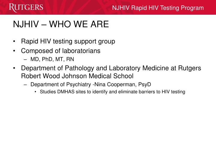 NJHIV – WHO WE ARE