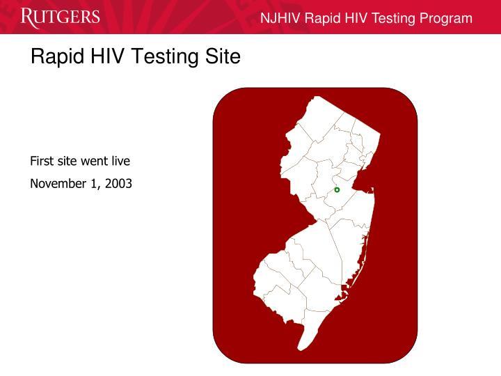 Rapid HIV Testing Site