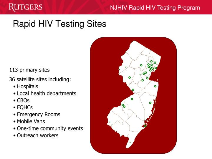 Rapid HIV Testing Sites