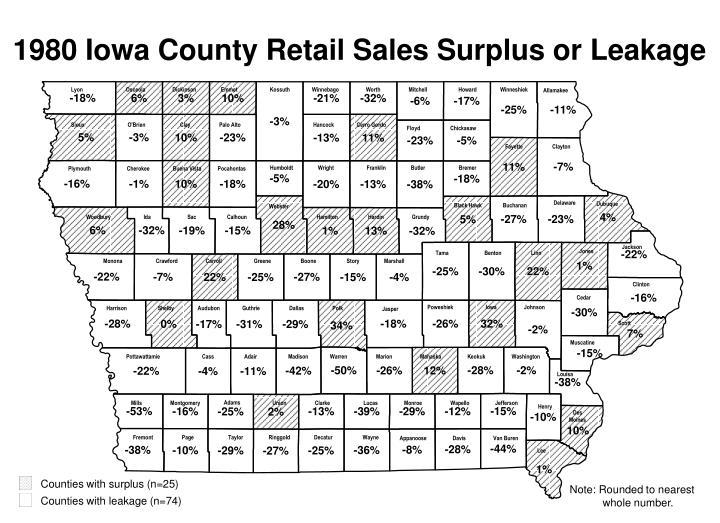 Counties with surplus (n=25)