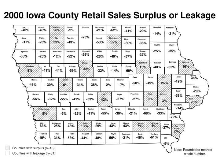 Counties with surplus (n=18)