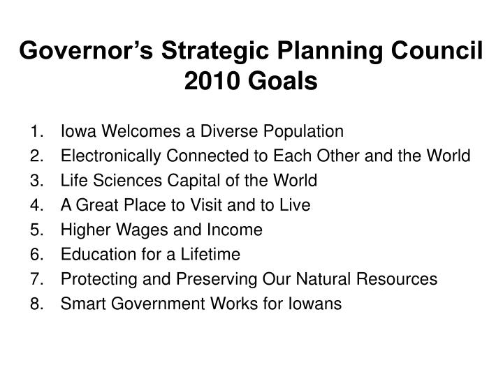 Governor's Strategic Planning Council