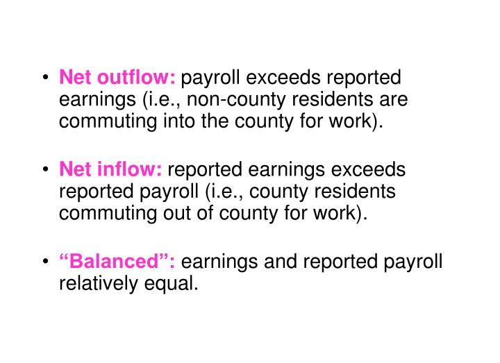 Net outflow: