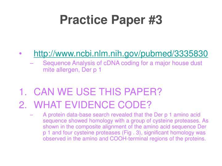 Practice Paper #3
