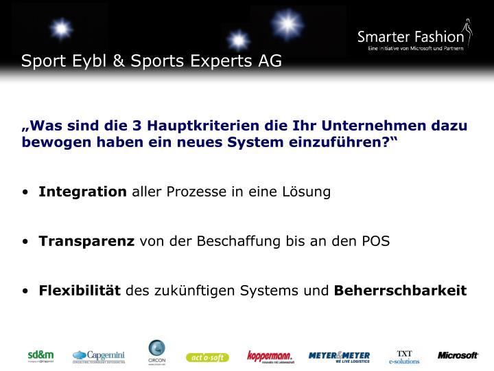 Sport Eybl & Sports Experts AG