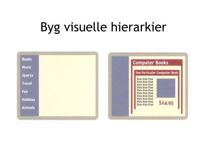 Byg visuelle hierarkier