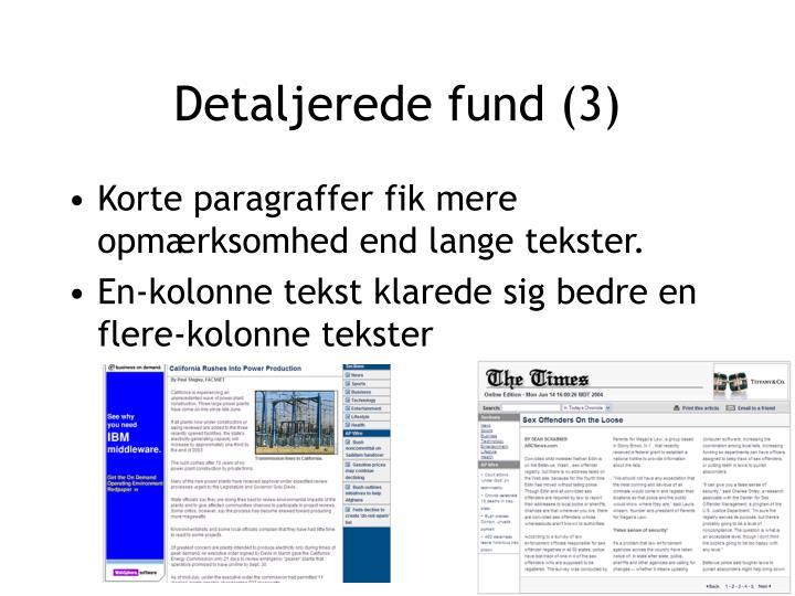 Detaljerede fund (3)