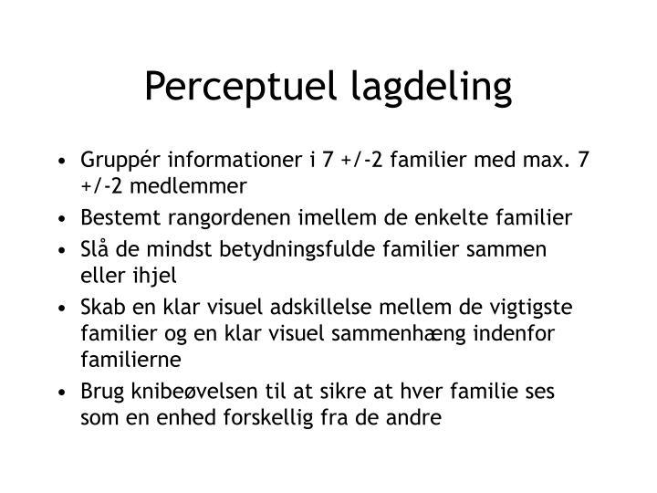 Perceptuel lagdeling
