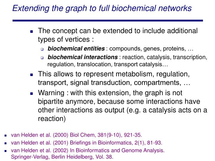 Extending the graph to full biochemical networks