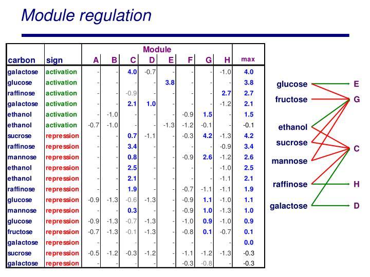 Module regulation