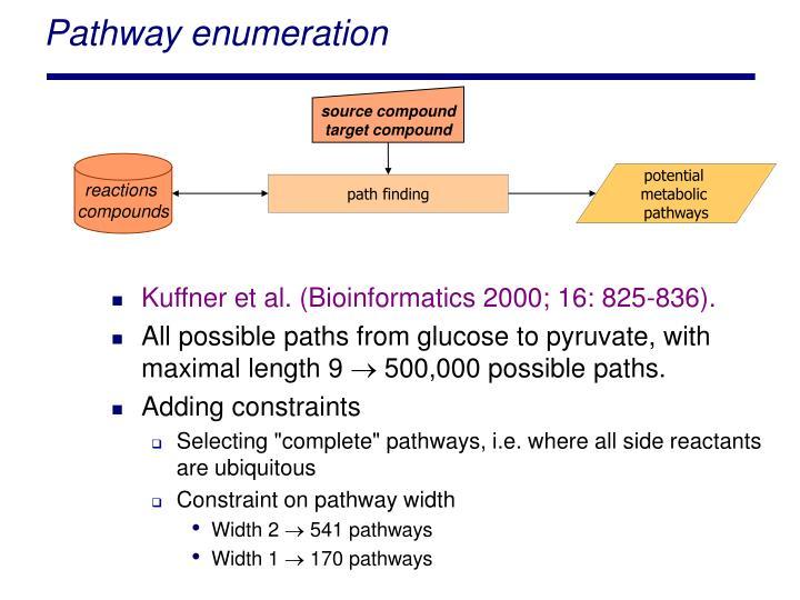 Pathway enumeration