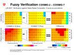 fuzzy verification cosmo 2 cosmo 7
