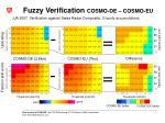 fuzzy verification cosmo de cosmo eu
