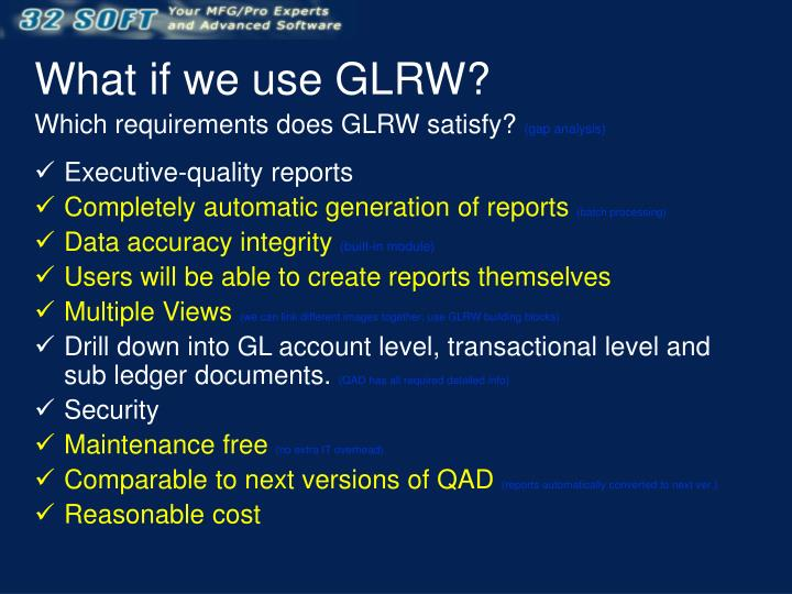 What if we use GLRW?