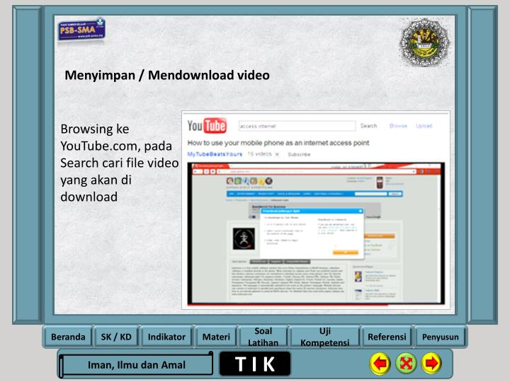 Menyimpan / Mendownload