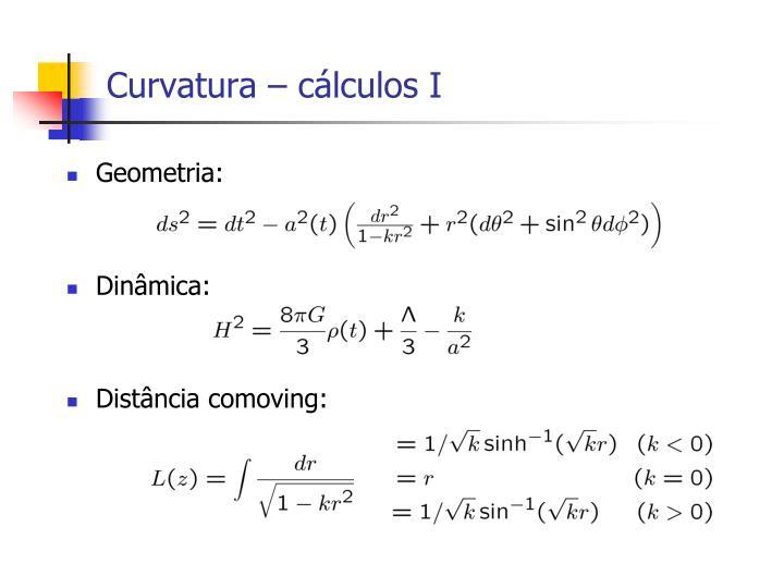 Curvatura – cálculos I
