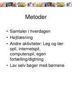 metoder