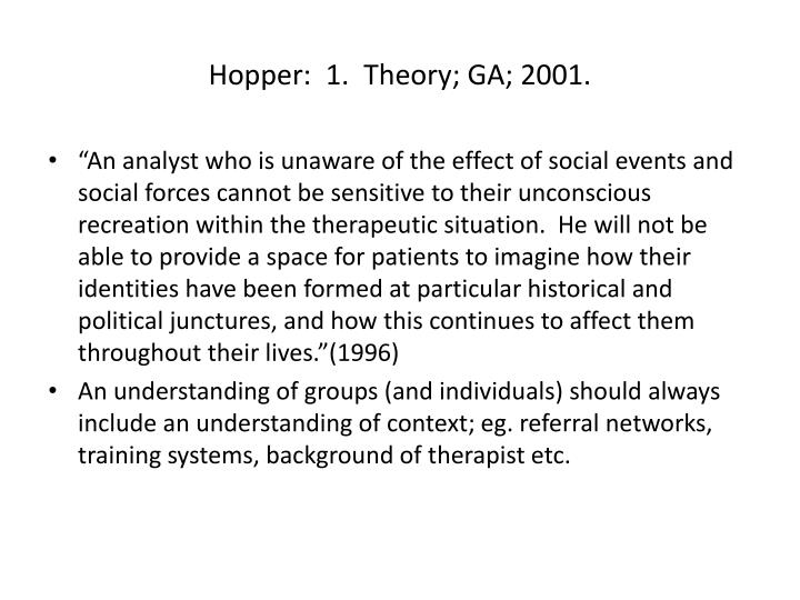 Hopper:  1.  Theory; GA; 2001.