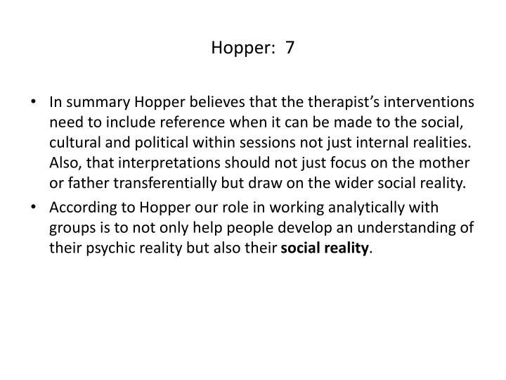 Hopper:  7