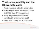trust accountability and the he world to come