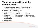 trust accountability and the world to come