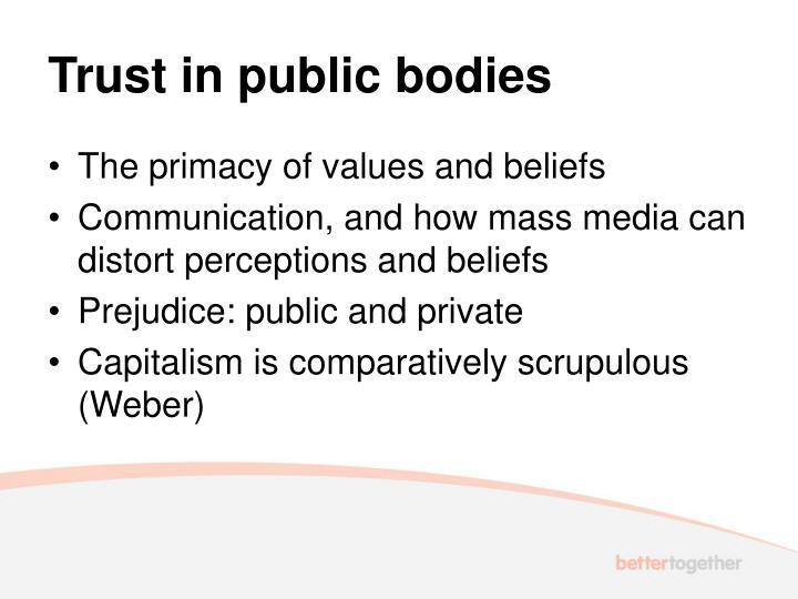 Trust in public bodies
