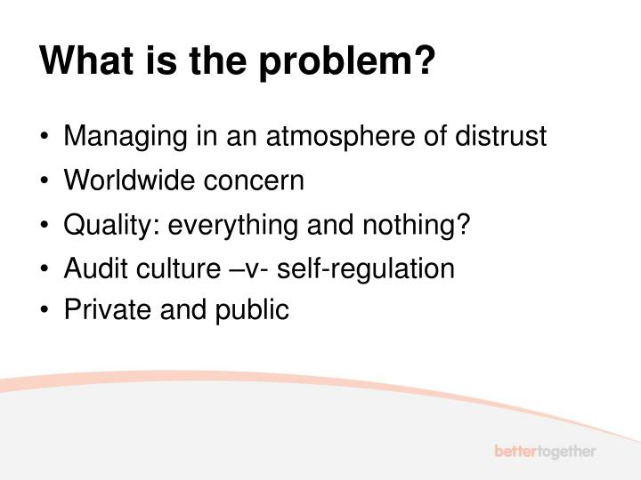 What is the problem?