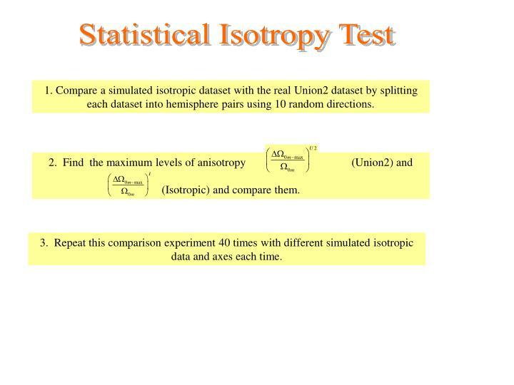 Statistical Isotropy Test