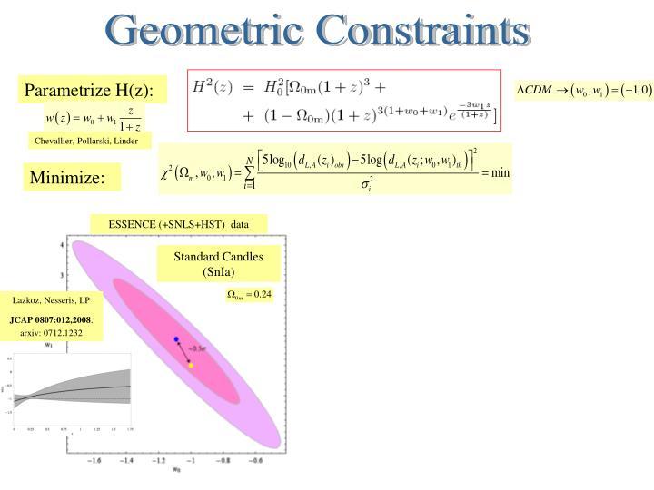 Geometric Constraints