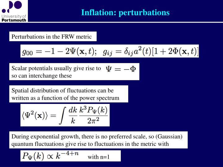 Inflation: perturbations