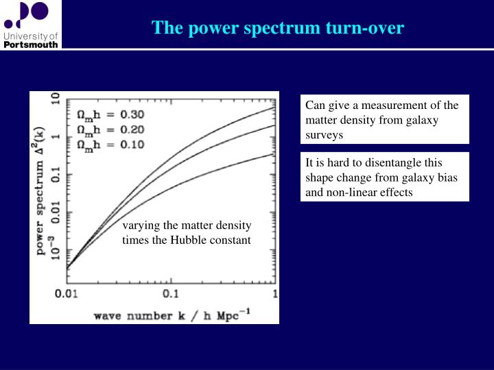 The power spectrum turn-over