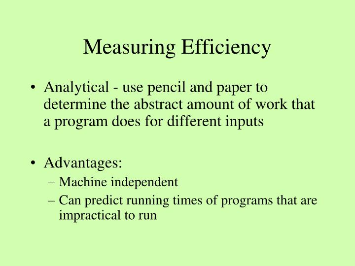 Measuring Efficiency