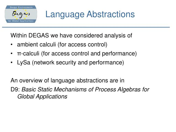 Language Abstractions