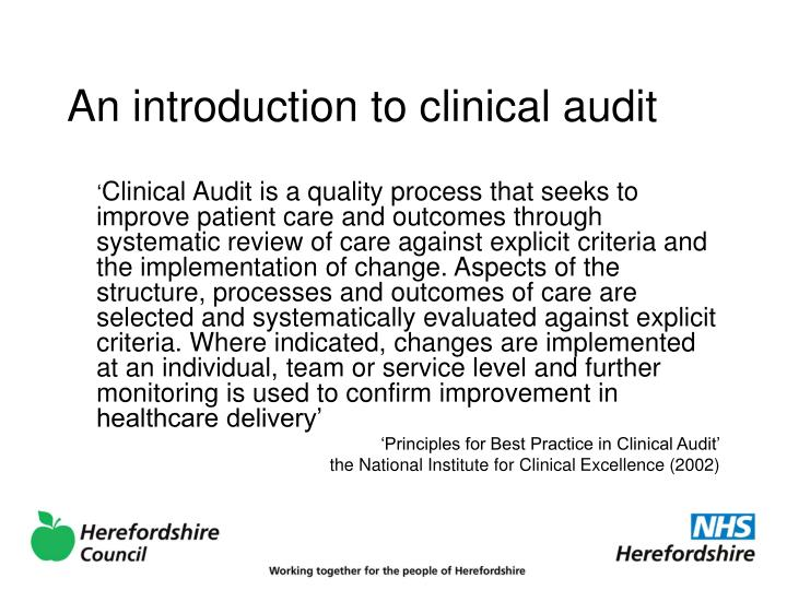 An introduction to clinical audit