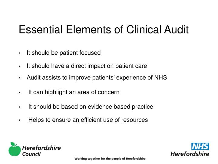 Essential Elements of Clinical Audit