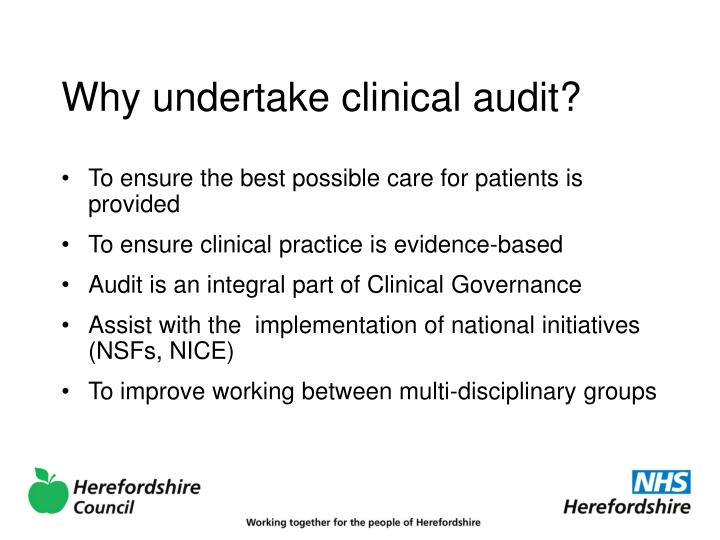Why undertake clinical audit?