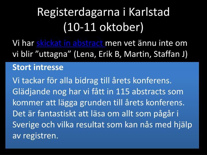 Registerdagarna i Karlstad