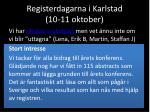 registerdagarna i karlstad 10 11 oktober