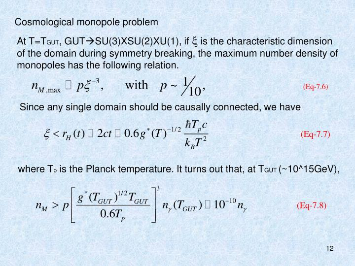 Cosmological monopole problem