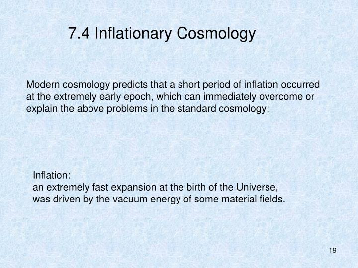 7.4 Inflationary Cosmology