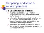 comparing production service operations1