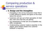 comparing production service operations3
