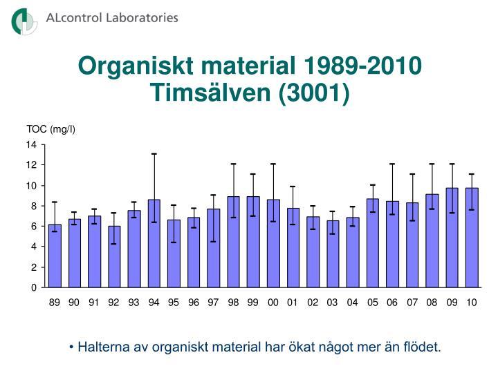 Organiskt material 1989-2010