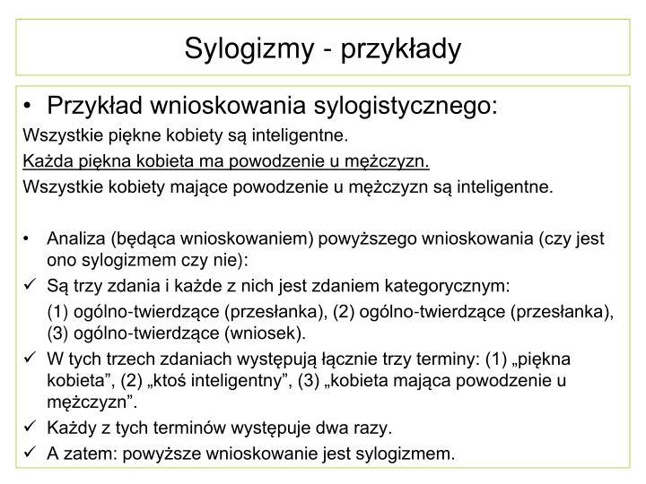 Sylogizmy - przykłady