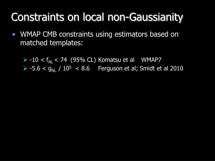 Constraints on local non-