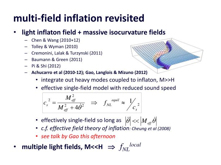 multi-field inflation revisited