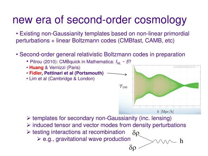 new era of second-order cosmology