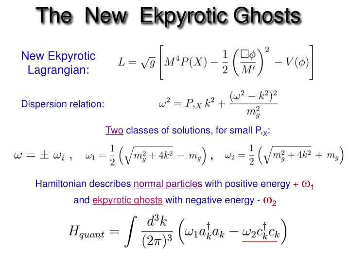 The  New  Ekpyrotic Ghosts
