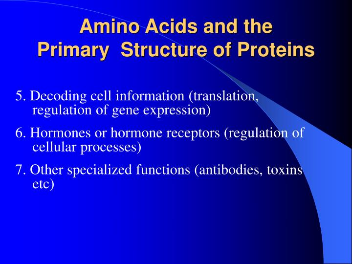 Amino Acids and the