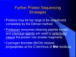 further protein sequencing strategies